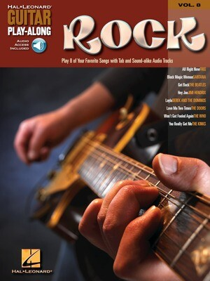 HAL LEONARD GUITAR PLAY-ALONG VOLUME 8 BOOK/CD - ROCK