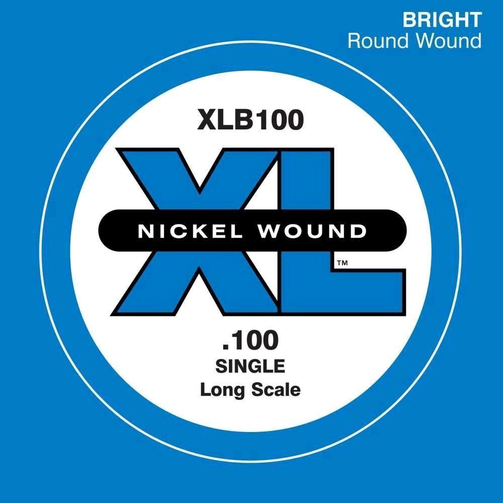 D'ADDARIO XLB100 BASS STRINGS SINGLE .100