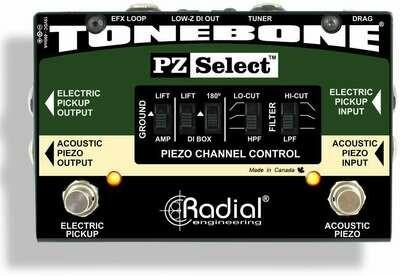 RADIAL TONEBONE PZ-SELECT ELECTRIC-ACOUSTIC PICKUP SELECTOR w/DI