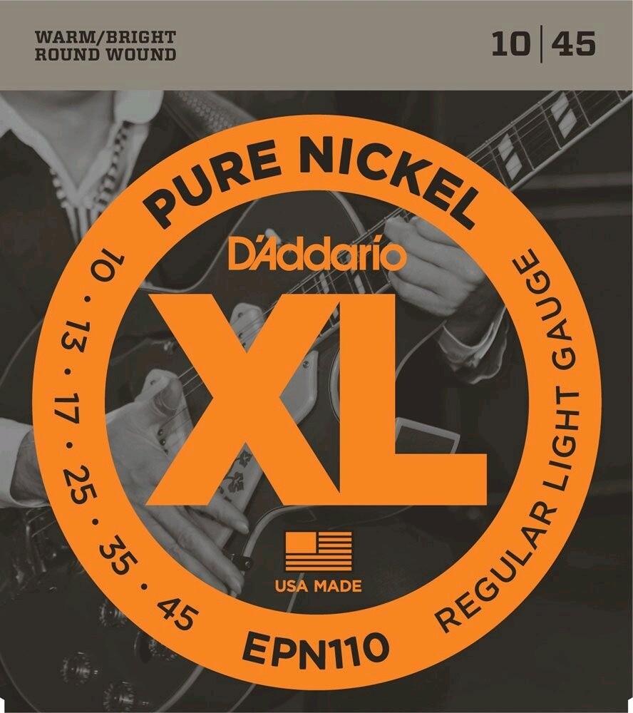 D'ADDARIO EPN110 SET ELEC GTR NICKEL REG LITE