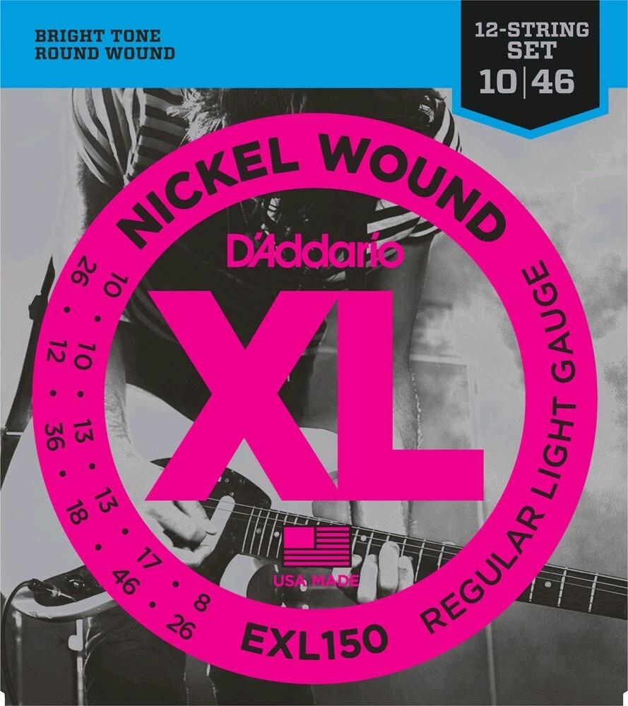 D'ADDARIO EXL150 12 STRINGS LIGHT