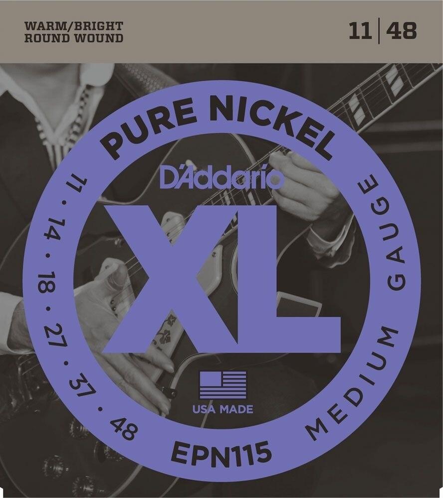 D'ADDARIO EPN115 SET ELEC GR NICKEL BLUES/JAZZ