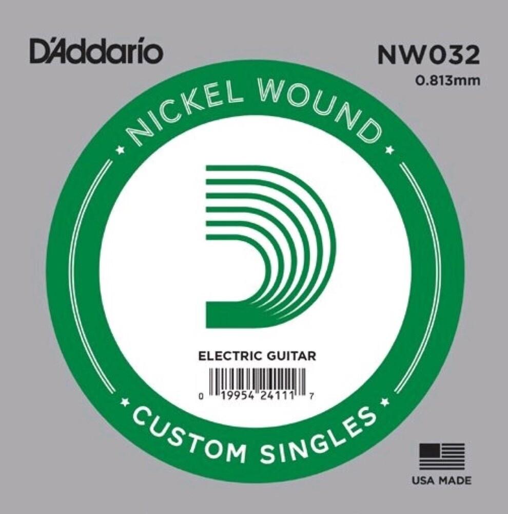 D'ADDARIO NW032 NICKEL WOUND ELECTRIC SINGLE .032