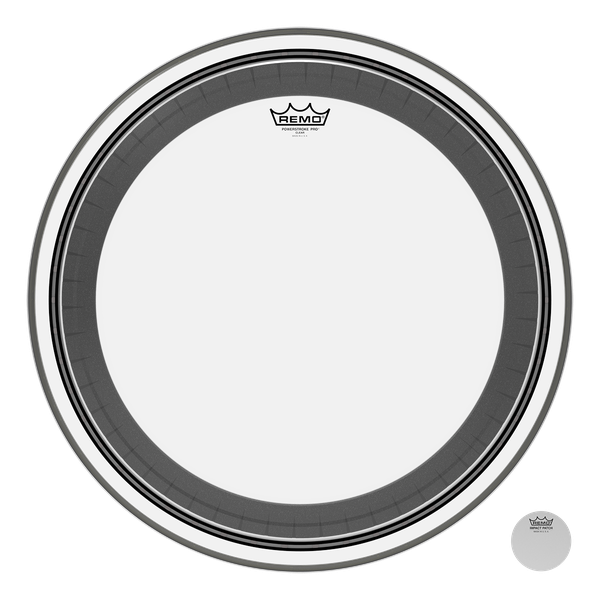 REMO POWERSTROKEPRO CLEAR 24'' BASS BATTER