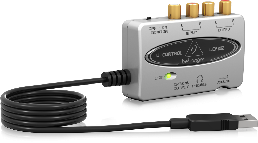 BEHRINGER UFO202 USB/Audio Interface phono/tape
