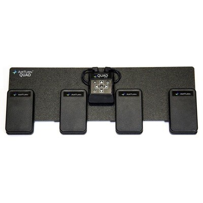 AIRTURN QUAD FOUR PEDAL WIRELESS CONTROLLET WITH REMOVABLE BLUETOOTH HANDHELD REMOTE