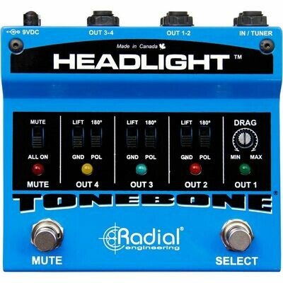 RADIAL TONEBONE HEADLIGHT ISOLATED AMP SELECTOR WITH 4 INPUTS