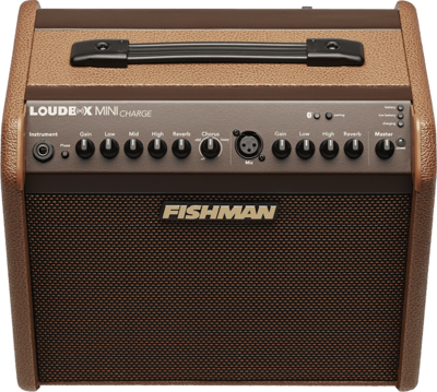 FISHMAN PRO-LBC-500 LOUDBOX MINI CHARGE BATTERY ACOUSTIC AMP w/FX/BLUETOOTH