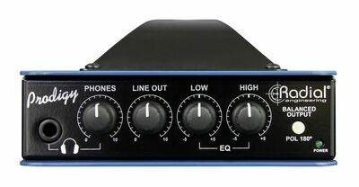 RADIAL HEADLOAD PRODIGY V8 SPEAKER LOAD BOX (8 ohms) /DI/CAB SIM.