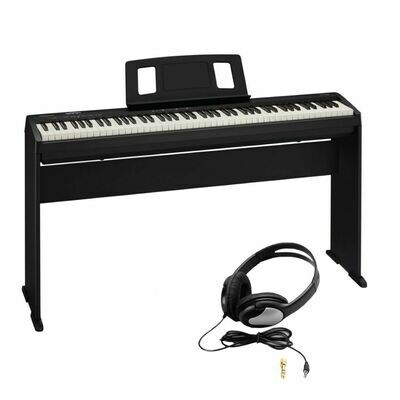 ROLAND FP-10-BKKSH FP-10 DIGITAL PIANO w/STAND/HEADPHONES/SUSTAIN PEDAL