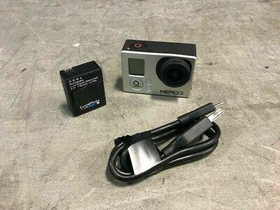 GoPro HERO3 Silver Caméra 1080x30 avec fil USB et batterie (usagé)