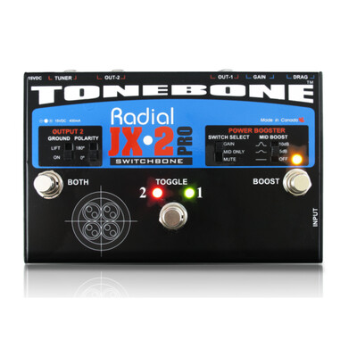 RADIAL JX2 SWITCHBONE ABY/BOOSTER PEDAL