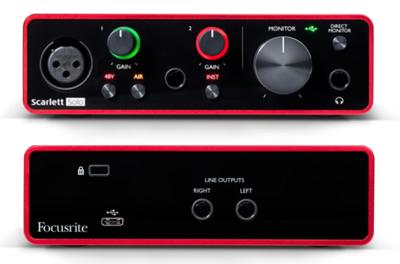 FOCUSRITE SCARLETT-SOLO-3RD USB AUDIO INTERFACE