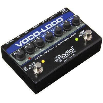 RADIAL VOCO-LOCO MIC FX LOOP & SWITCHER GUITAR FX PEDAL