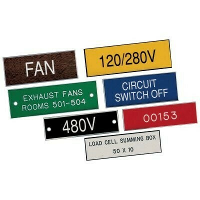 """4"""" x 2"""" Engraved Label"""