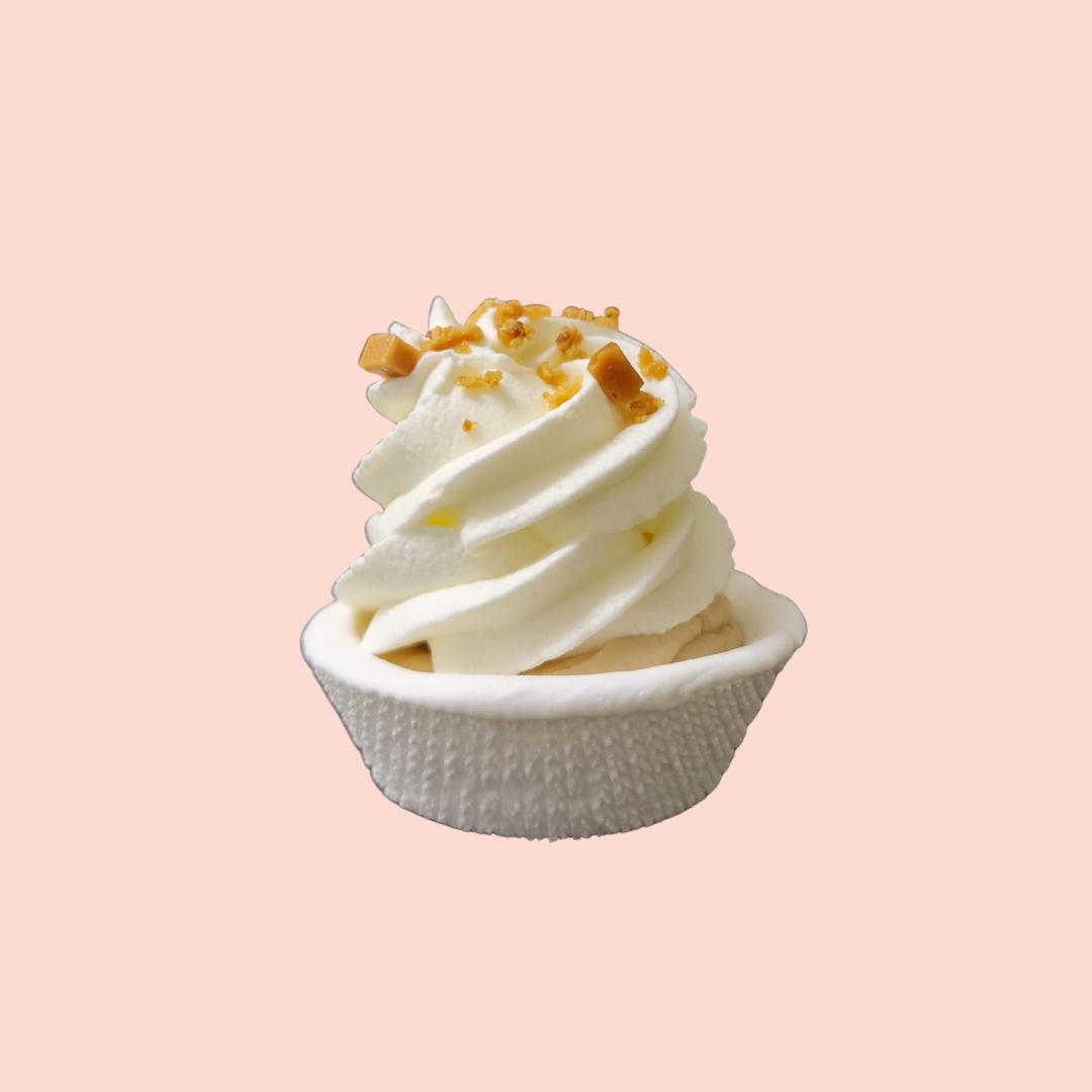 Meuh'ringue poire et caramel beurre salé