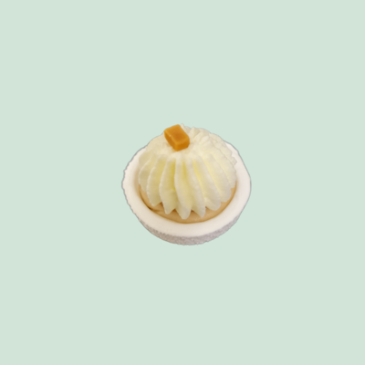 Baby'Meuh'ringue poire et caramel beurre salé