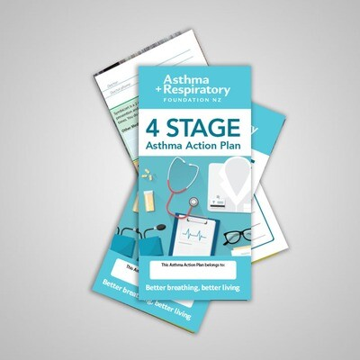 4 Stage Asthma Action Plan (English) - 10 Pack