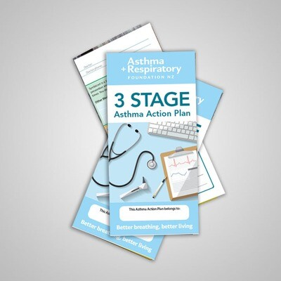 3 Stage Asthma Action Plan (English) - 10 Pack