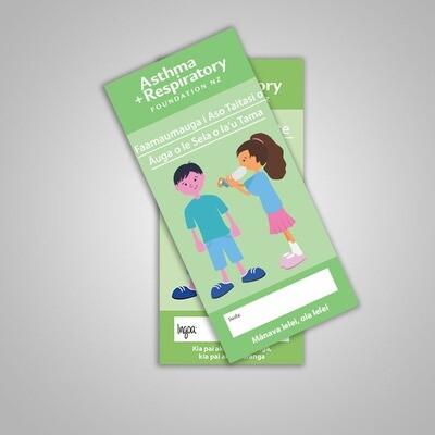 Child Asthma Symptom Diary (Samoan) - 10 Pack
