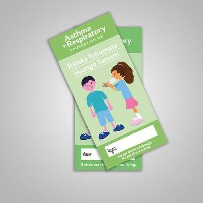 Child Asthma Symptom Diary (Te Reo Māori) - 10 Pack