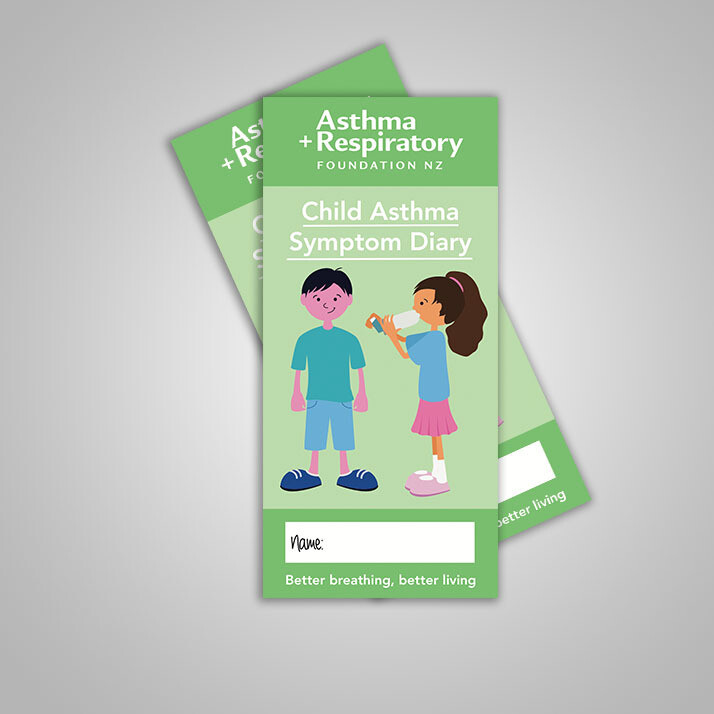 Child Asthma Symptom Diary (English) - 10 Pack