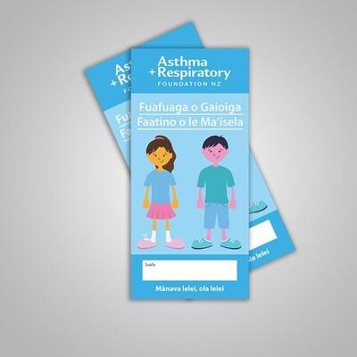 Child Asthma Action Plan (Samoan) - 10 Pack