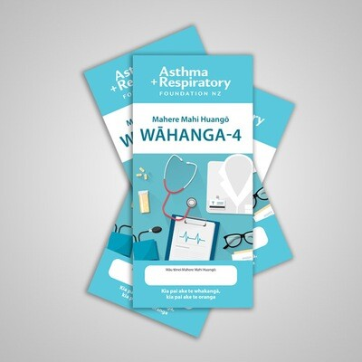4 Stage Asthma Action Plan (Te Reo Māori) - 10 Pack
