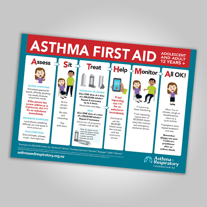 First Aid Poster (12 years and over) - English A3 Poster - 1 Unit. Resource updated March 2021