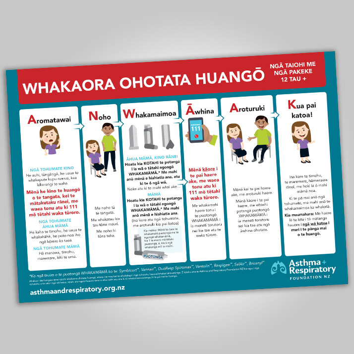 First Aid Poster (12 years and over) - Te Reo Māori A3 Poster - 1 unit. Resource update June 2021