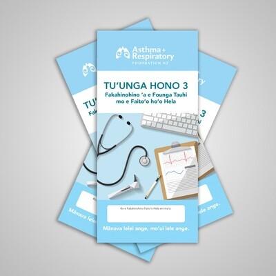 3 Stage Asthma Action Plan (Tongan) - 10 Pack