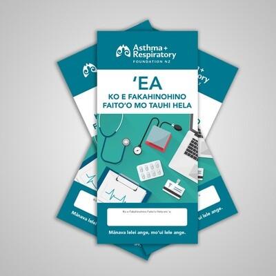 AIR Asthma Action Plan (Tongan) - 10 Pack