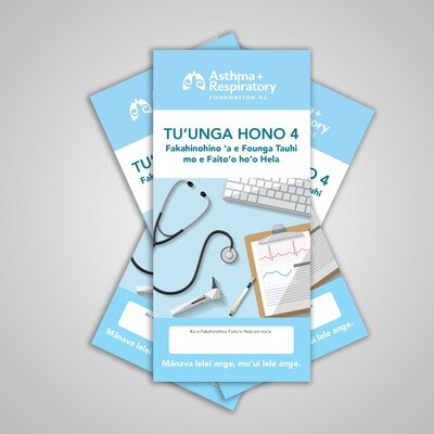 4 Stage Asthma Action Plan (Tongan) - 10 Pack
