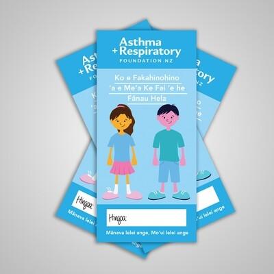 Child Asthma Action Plan (Tongan) - 10 Pack