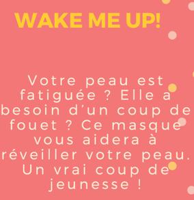 Kit Masque Energisant - Wake me Up!