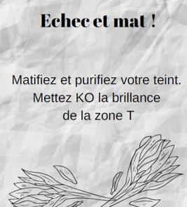 Kit Masque Matifiant - Echec et mat!