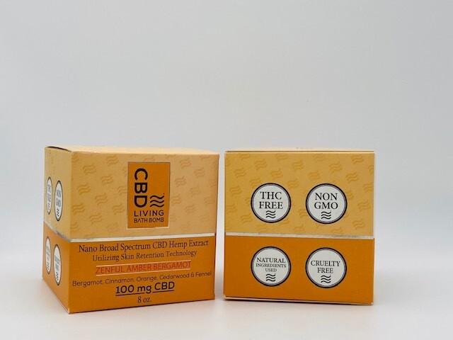 CBD Living Bath Bomb Zenful Amber 100mg