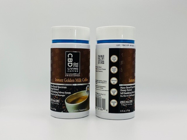 CBD Living Instant Golden Milk Coffee