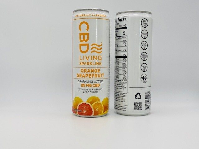 CBD Living Sparkling Orange Grapefruit 25mg