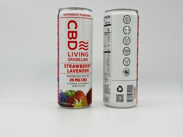 CBD Living Strawberry Lavender Ginger 25mg