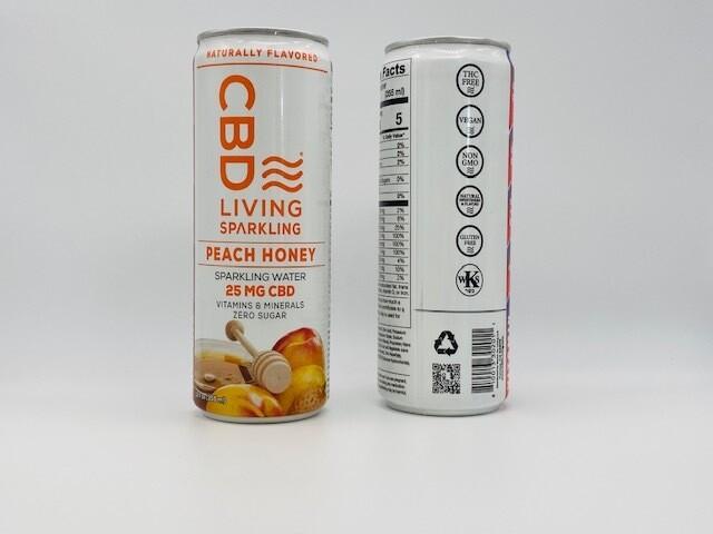 CBD Living Sparkling Peach Honey 25mg