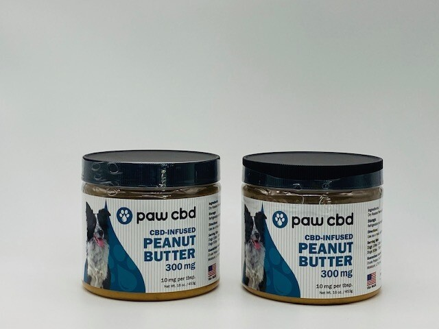cbdMD Infused Peanut Butter Jar - For Dogs (300mg)