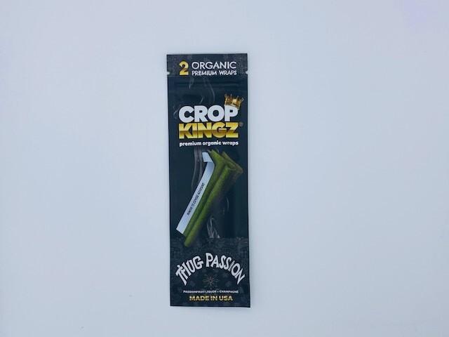 Crop Kings Organic Hemp Blunt Wraps Thug Passion 15 count