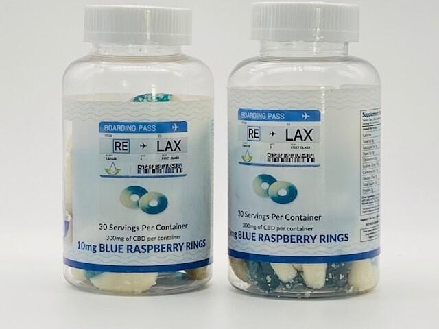RELAX CBD Blue Raspberry Rings 300mg