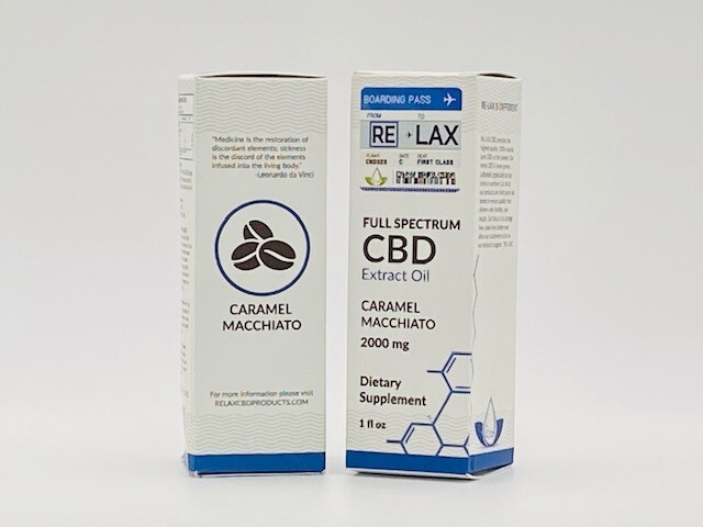 RLX CBD Caramel Macchiato Tincture (2,000mg)