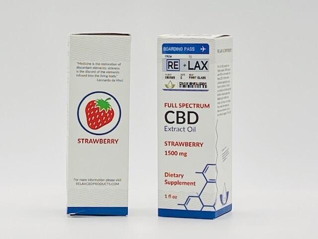 RELAX CBD Strawberry Tincture 1500mg