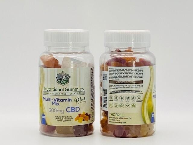 Sun State Hemp CBD Multi Vitamin Gummies 300mg Mix