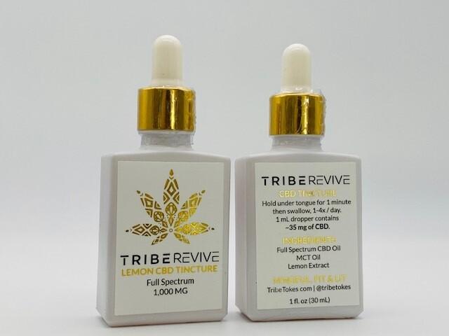 TribeRevive CBD Tincture Lemon 1000mg