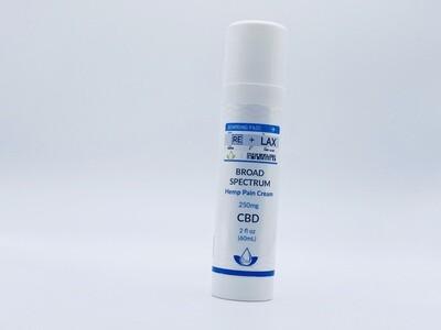 RELAX CBD Pain Cream 4oz 250mg