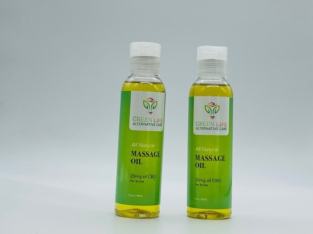 Green Life CBD Massage Oil 20mg